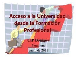 Acceso a la Universidad desde la Formación Profesional