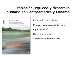 Segundo Informe sobre desarrollo humano en Centroamérica