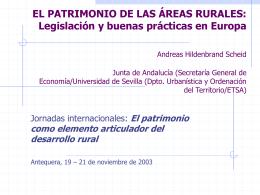 patrimonio y desarrollo rural. el marco jurídico