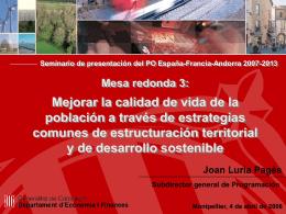 Seminario de presentación del PO España-Francia