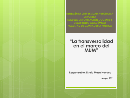 propósitos educativos - TRANSVERSALIDAD-MUM