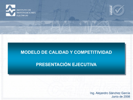 Modelo de Calidad y Competitividad del IIE