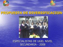 Diapositiva 1 - Dirección Regional de Educación Lima Provincias