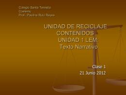 1ª CLASE RECICLAJE 5 - Colegio Santa Teresita de Coelemu