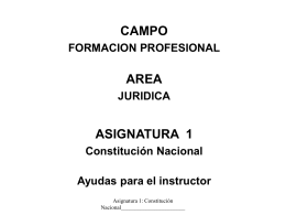 Constitucional - Policía Nacional de Colombia