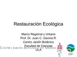 Restauracion ecologica
