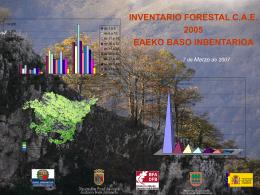 Presentación del Inventario Forestal
