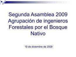 Diapositiva 1 - Agrupación de Ingenieros Forestales por el Bosque