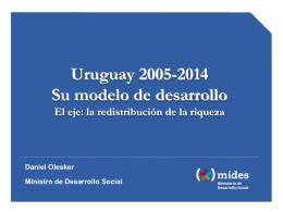 ver la presentación del ministro - Ministerio de Desarrollo Social