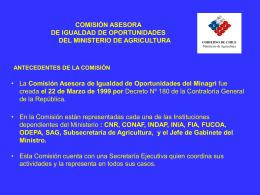 Comisión Asesora de Igualdad de Oportunidades del Ministro de