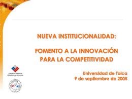 Presentación - Universidad de Talca
