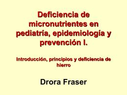 Deficiencia de micronutrientes en pediatría, epidemiología