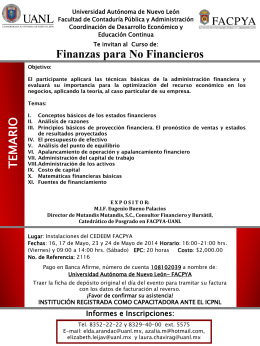 Finanzas para No Financieros - Universidad Autónoma de Nuevo