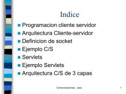 Java Programación Cliente