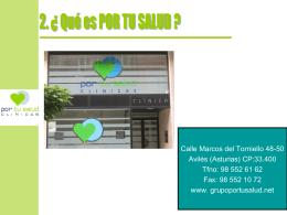 Diapositiva 1 - Clínicas Por Tu Salud