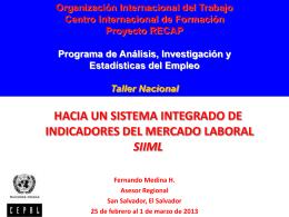 hacia un sistema integrado de indicadores del mercado laboral siiml
