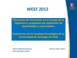 WEEF 2012 - Universidad Tecnológica Nacional