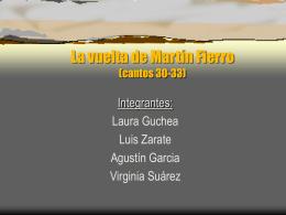La vuelta de Martín Fierro (cantos 30-33)