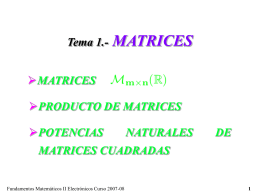Tema 2.- MATRICES
