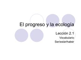 El progreso y la ecología
