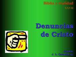 27 Denuncias de Cristo