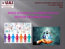 Redes sociales y su impacto en la gestión organizacional