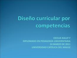 Currículo - PedagogiaUniversitaria