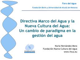 La Directiva Marco del Agua