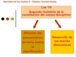 Semiótica de los medios II – Cátedra: Graciela Varela Peirce