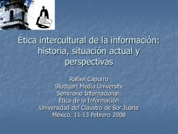 Etica intercultural de la información