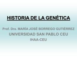 Descargar Historia de la genética, clase Mª José Dorrego