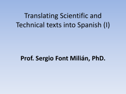 clase 14. translating scientifical & technical texts into english. 1.