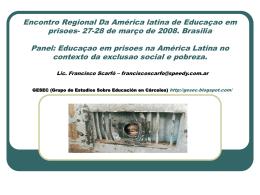 Encontro Regional Da América latina de Educaçao em prisoes- 27