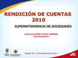 Rendición de cuentas - Superintendencia de Sociedades