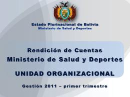 Rendición de Cuentas - Ministerio de Salud