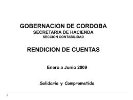 RENDICION DE CUENTAS - Gobernación de Córdoba