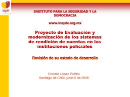Ernesto Lopez Portillo - Sistema rendicion policial