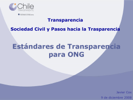 Chile Transparente, Javier Cox, Director