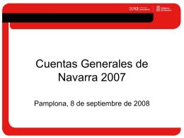 Resumen de las cuentas generales 2007