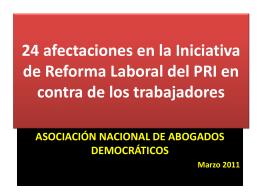 Reforma laboral del PRI marzo de 2010