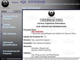 SQL Estándar - Universidad FASTA