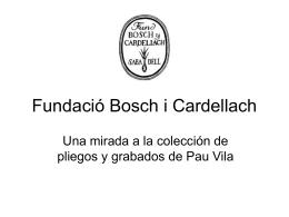 Pau Vila - Fundació Bosch i Cardellach