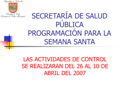 Presentacion Actividades de Samana Santa 2007