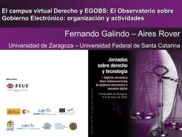 El Observatorio sobre Gobierno Electrónico - LEFIS