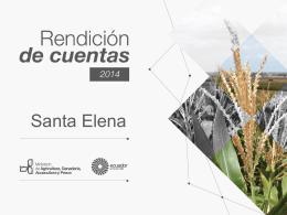 Prensentación Rendición de Cuentas 2014 Santa Elena