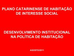 Ciclo Orçamentário - Governo do Estado de Santa Catarina