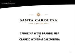 Santa Carolina 2010 accolades ppt