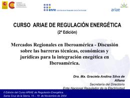 II Edición del Curso ARIAE de Regulación Energética. Santa Cruz