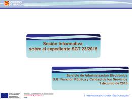 Presentación y Matizacines al expediente SGT23_2015 20140601