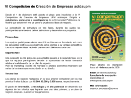 Diapositiva 1 - Indusnet - Universidad Politécnica de Madrid